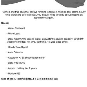 Casio A158W-1 Digital Chronograph Watch